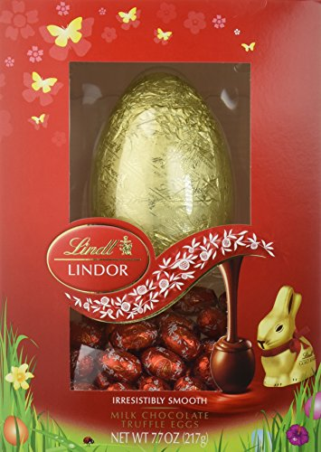 Lindt LINDOR Milk Chocolate Truffle Easter Egg Centerpiece Gift, 7.7 Ounce (Pack of 4)