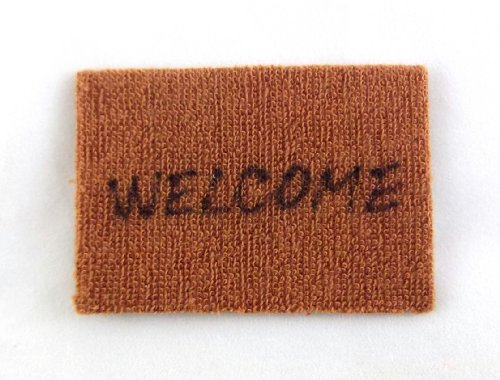 Melody Jane Dolls Houses House Miniature 1:12 Scale Hall Door Step Accessory Welcome Mat (Mat Door Dollhouse)