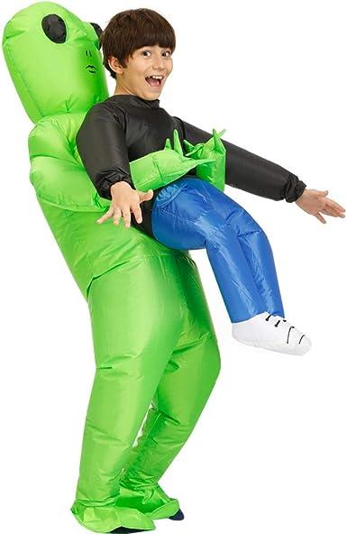 Decalare Kids Alien Inflatable Costumes Unicorn Fancy Blow Up Costume Halloween Cosplay Fantasy Costume