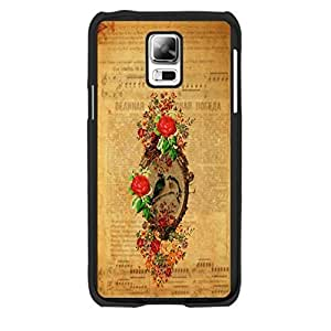 Samsung Galaxy S5 I9600 Case Protective Snap on Hard Plastic Vintage Design Elegant Floral & Cute Starling Bird (red rose blacks1176)