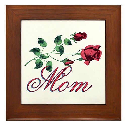 - Framed Tile Mom with Roses for Mother's Day