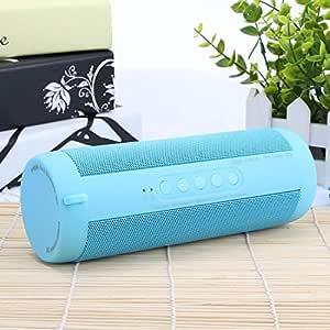 ZYZRYP Original T2 Bluetooth Speaker Waterproof Portable Outdoor Wireless Mini Column Box Speaker Support TF card FM Stereo Hi-Fi Boxes (Color : Sky Blue)