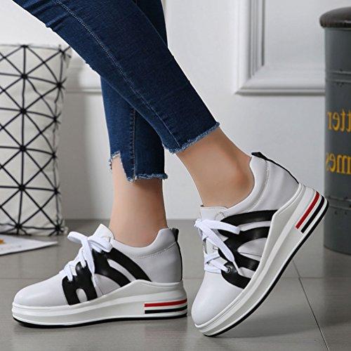 Marche Athlétique De Baskets Jrenok Antidérapantes Cm Running Femme À Sneakers Mocassins Chaussures Blanc Haute Noir Compensé Respirant 7 pRHXpqwxY5