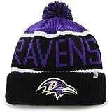 eb61e6533734b3 '47 Brand Calgary Cuff Beanie Hat with POM POM - NFL Cuffed Winter Knit  Toque. '