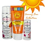 Chocolate Summer Collection''Sunny Fun'', contains Sun'n'Fun Broad Spectrum Mineral Sunscreen SPF30, YummiTummi Organic Baby Choco Butter and ChocoSmooch lip & face balm.
