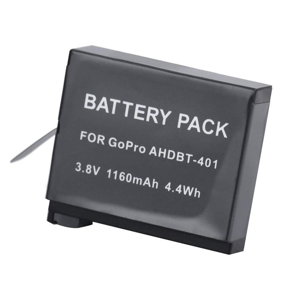 Bater/ía de ion de litio de repuesto AHDBT-401 protege contra sobrecarga 1160 mAh bater/ía de repuesto para drones para GoPro Hero 4 prolongar el tiempo de vuelo de su dron 3,8 V Ewendy