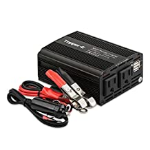Power Inverter 300W Car Charger DC 12V to Dual 110V AC outlets Dual 2.1A USB Charging Ports for Laptop Tablets phone camera PSP DVs and More