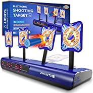 UWANTME Electronic Shooting Target Scoring Auto Reset Digital Targets for Nerf Guns Toys, Ideal Gift Toy for Kids-Boys & Gir