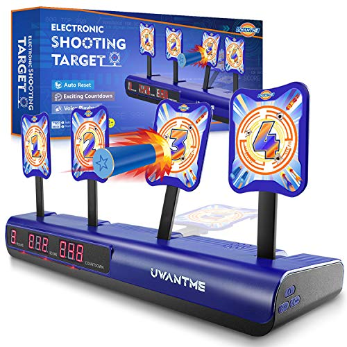 UWANTME Electronic Shooting Target Scoring Auto Reset Digital Targets for Nerf Guns Toys, Ideal Gift Toy for Kids-Boys & Girls (2019 Version)