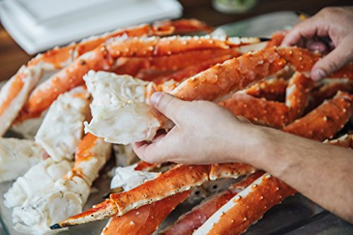 Alaskan Colossal Red King Crab Legs: 3 LBS- Free Overnight Shipping Monday-Thursday ()