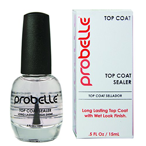 Long Lasting Ultra Shine Nail - Probelle Ultra High Gloss Top Coat Sealer, Clear, .5 Fluid Ounce