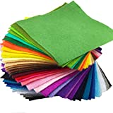 flic-flac 42pcs1.4mm Thick Soft Felt Fabric Sheet