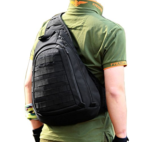 Tactical Laptop Waterproof Travel Pack Hiking School Crossbody Chest Shoulder Khaki Military Daypack Black Mens Cycling Sling Backpack For Camping Bag Molle SrSnPpq