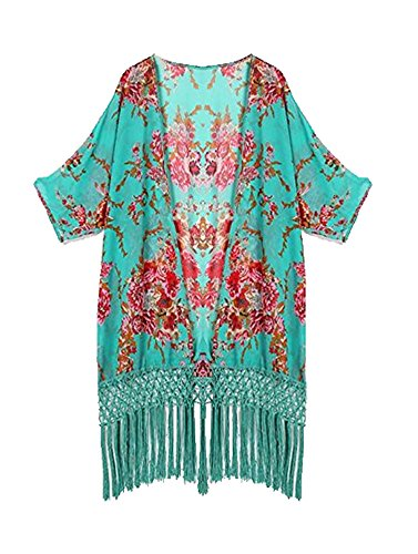 Finejo Women's Beach Coverup (Open Front Swimsuit Cover Up)