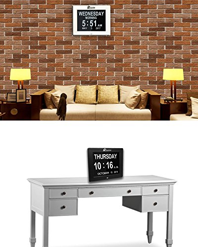 Decorative Bedroom Alarm Clocks: Digital Wall Clock- Alarm Clock- Kitchen LED Extra Large