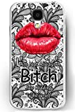 Galaxy S4 Case, Samsung Galaxy S4 Case Slim Fit Hard Back Cover for Galaxy S4 I am not Always a Bitch Just Kidding Fuck Yourself