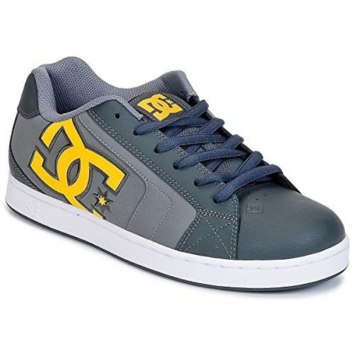 Scarpe Dc Net Se Scarpa D0302297, Herren, Sneaker Grigio / Giallo