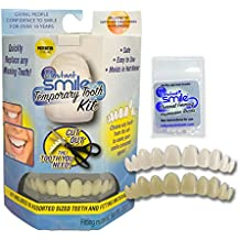 Instant Smile Temporary Tooth Kit DELUXE... 3 SHADES of Temporary Teeth Included! Replace a missing tooth in minutes!