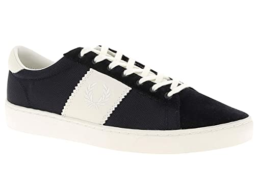 Fred Perry Spencer Poly Leather Navy B4102608, Deportivas: Amazon.es: Zapatos y complementos