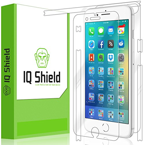 iPhone 8 Plus Screen Protector, IQ Shield LiQuidSkin Full Body Skin + Full Coverage Screen Protector for iPhone 8 Plus HD Clear Anti-Bubble Film