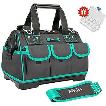 "13/"" Tool Bag Multi-pocket Tool Organizer Waterproof Adjustable Shoulder Strap"