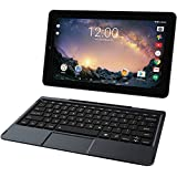 2018 RCA Galileo Pro High Performance 2-in-1 11.5 Touchscreen Tablet PC, Intel Quad-Core Processor 32GB SSD 1GB RAM Webcam WIFI Bluetooth Detachable Keyboard Android 6.0, Black