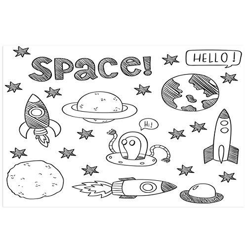 (YOKOU Outer Space Aquarium Background Sticker Wallpaper 16.4