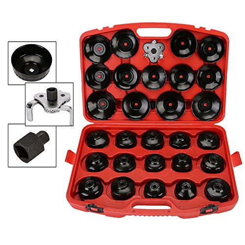 Eapmic 30Pcs Oil Filter Cap Wrench Socket Set Removal Car Garage Tool Kit by Eapmic (Image #7)