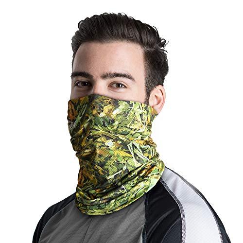 - Palmyth Neck Gaiter Fishing Mask Bandana Sun Wind Dust Protection UV UPF 50+ Camo Headwear Balaclava Magic Scarf for Men Women Hunting, Cycling, Motorcycling, Running (Woodland Camo)