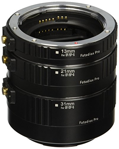 Fotodiox Pro Auto Macro Extension Tube Kit for Canon EOS EF / EF-s Lenses for Extreme (Extension Tube Kit)