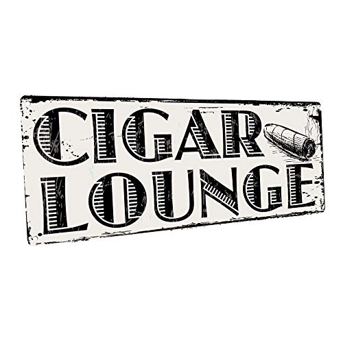 Cigar Lounge Metal Sign, Man Cave, Den Decor, Bar -