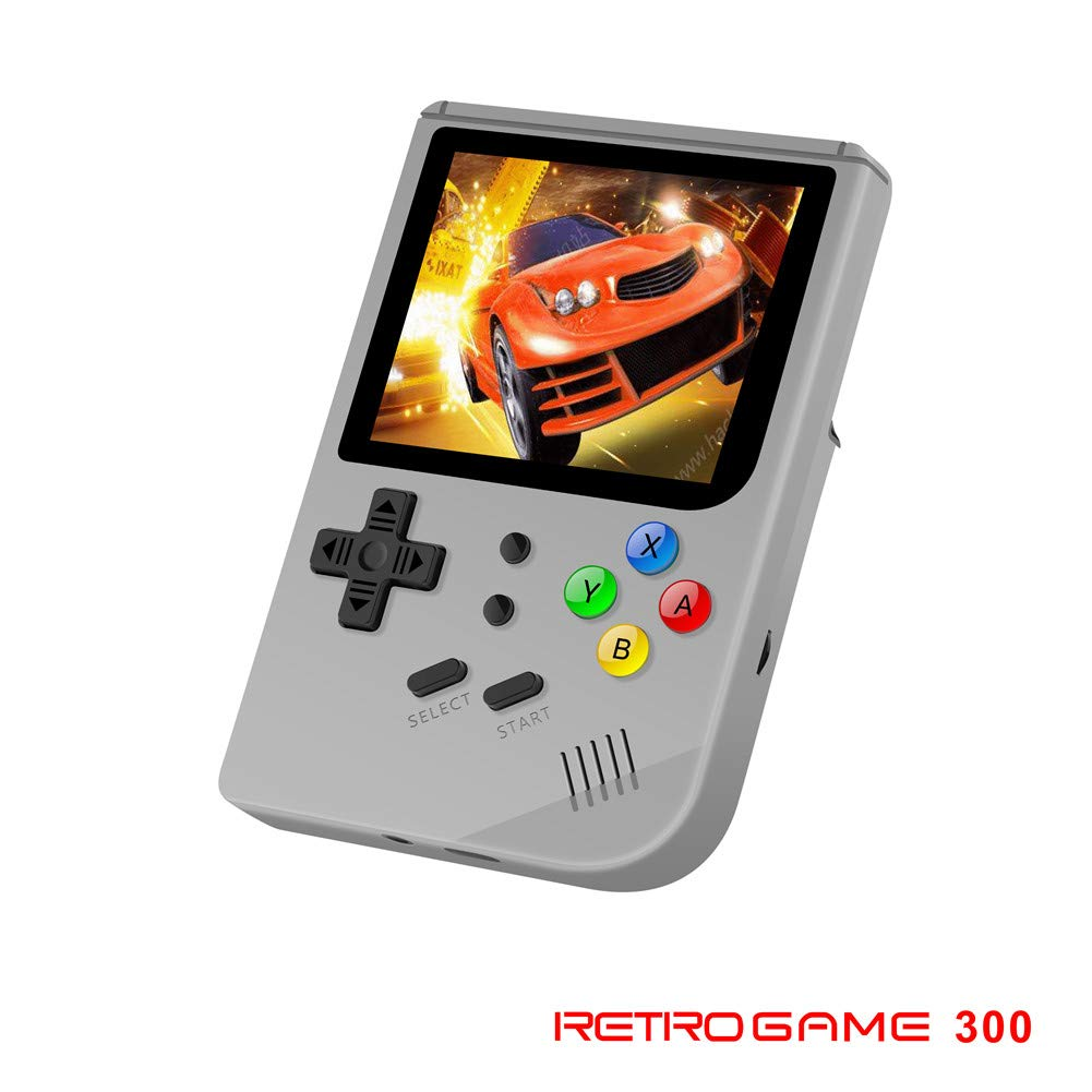 3 INCH Video Games Portable Retro FC Console New BittBoy Retro Game Handheld Games Console Player RG 300 16G 3000 Games Best Gift (Gray)