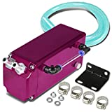 Univeral Aluminum Racing Oil Catch Tank Square Style - Purple Tank