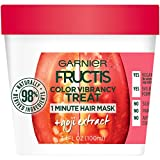 Garnier Fructis Color Vibrancy Treat 1 Minute Hair Mask with Goji Extract and Boost Collagen, 3.4 Fl Oz (Pack of 1)