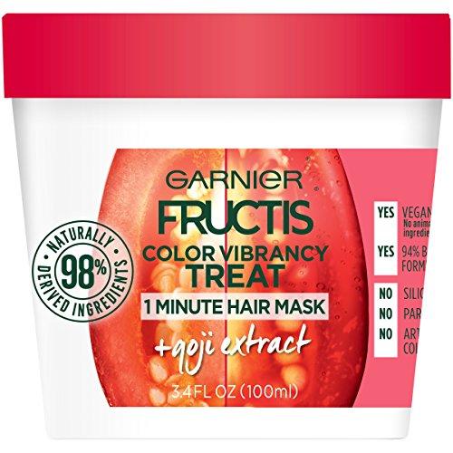 Garnier Fructis Color Vibrancy Treat 1 Minute Hair Mask, 3.4