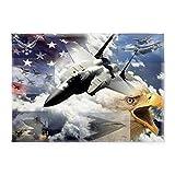 CafePress - US Air Force - Decorative Area Rug, 5'x7' Throw Rug
