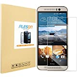 [HTC One M9 Screen Protector] PLESON® Tempered Glass HD Clear Screen Protector Guard Film for HTC One M9, with Extremely Smooth / Bubble-free Shield / Anti-scratch / Fingerprint Resistant / Explosion Proof / Silicone Adhesive / Oleophobic / 9H / Anti-glare / High Sensitivity / Completely Transparent / High Definition (HD)f / Pressure-Resistant / Shockproof -Retail Packaging (0.3mm, 9H Hardness, 2.5D Rounded Edges)[Lifetime Warranty] -- Retail Packaging
