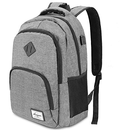 Oberhoffe Laptop Backpack Travel Backpack with USB Charging Port Anti Thief/Water Resistant College School Bookbag for Women Men Business Backpack Fit 15.6 inch Notebook (Grey)