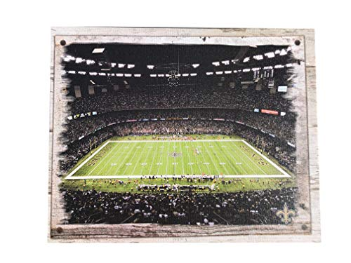 Artissimo Designs Plank Sports Stadium and Arenas Canvas Artwork (New Orleans Saints) ()