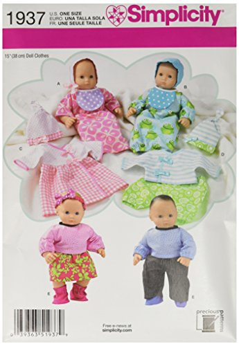 (Simplicity Sewing Pattern 1937 Doll Clothes, One Size)