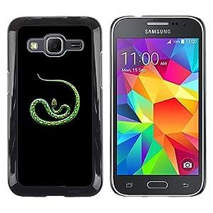 Spots Green Nature Tropic Animal Serpiente- Metal de aluminio y de plástico duro Caja del teléfono - Negro - Samsung Galaxy Core Prime