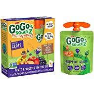 GoGo squeeZ fruit & veggieZ, Apple Sweet Potato Grape, 3.2 Ounce (4 Pouches), Gluten Free, Vegan Friendly, Unsweetened, Recloseable, BPA Free Pouches