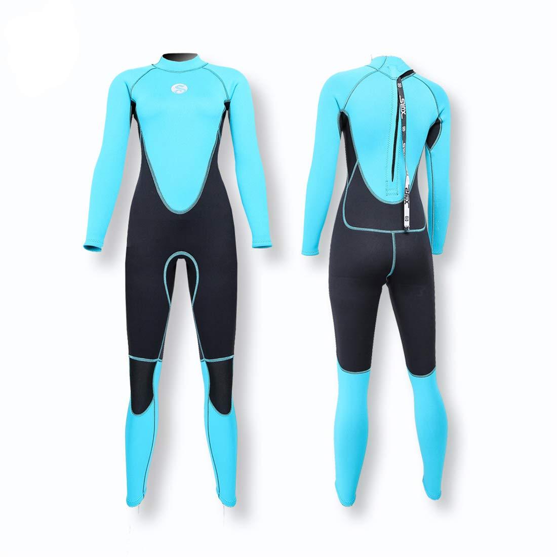 3mm ネオプレン女性ウェットスーツ暖かい水泳ウィンドサーフィンシュノーケリングスピアフィッシングスキューバスーパー薄い柔らかい快適なダイビングスーツ,M B07NY8JYZS Small  Small