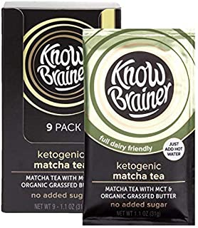product image for Know Brainer, Instant, Matcha Tea, keto, mct coconut oil, organic grass fed, non gmo, sugar free