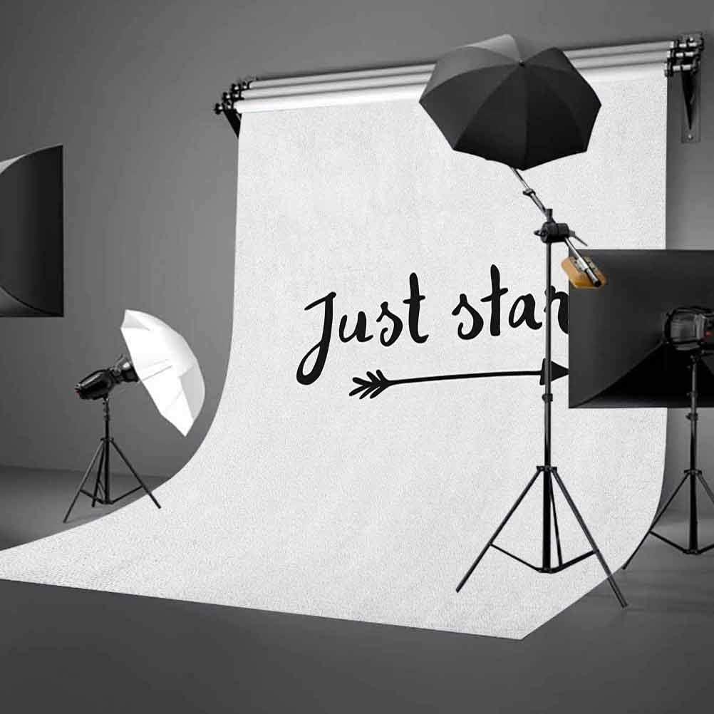 8x12 FT Motivational Vinyl Photography Backdrop,Calligraphy Arrow Concept Modern Life Advice Words of Wisdom Inspiring Phrase Background for Photo Backdrop Baby Newborn Photo Studio Props