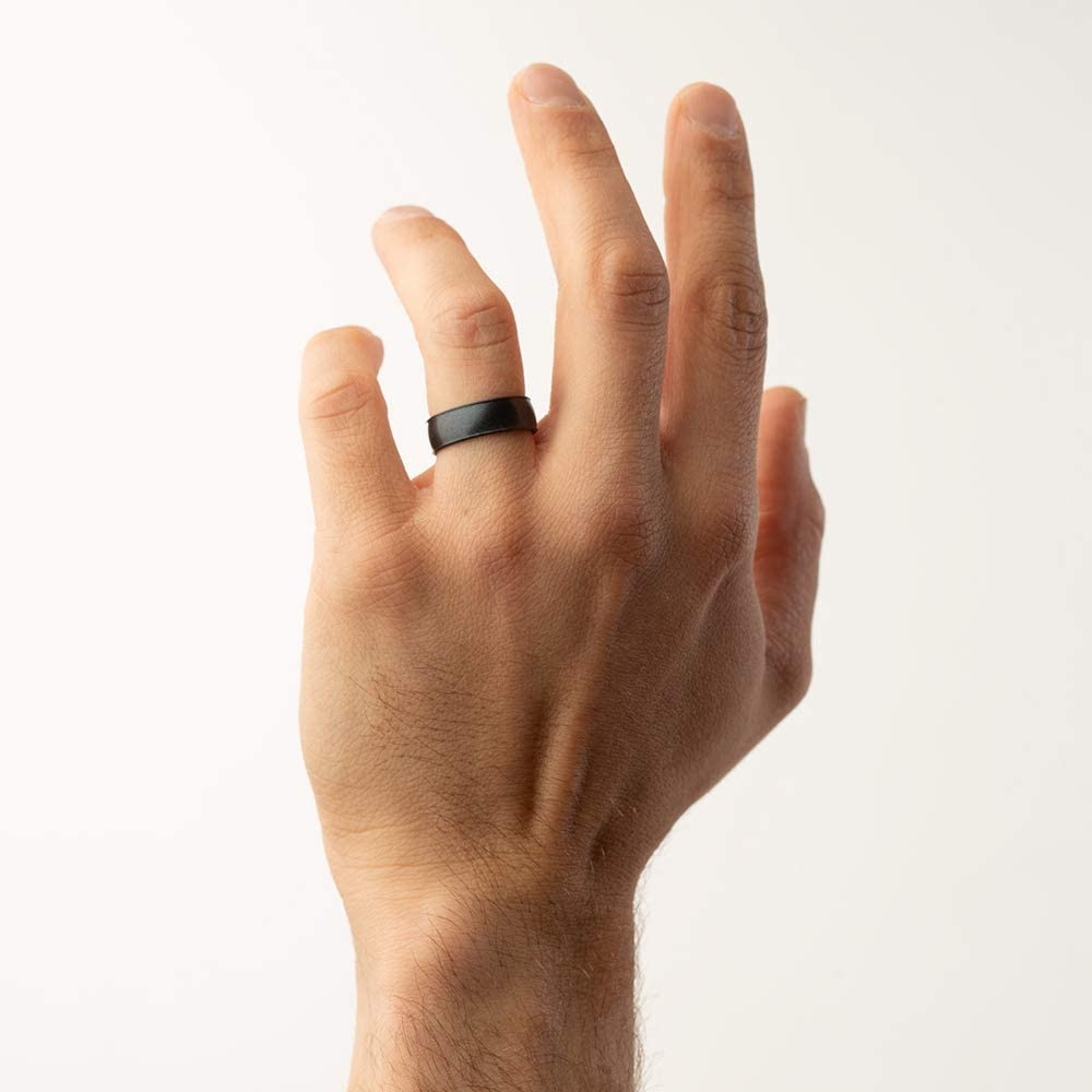Made in The USA |Infused with Precious Elements Breathable Comfortable Enso Rings Classic Elements Silicone Ring and Safe Lifetime Quality Guarantee