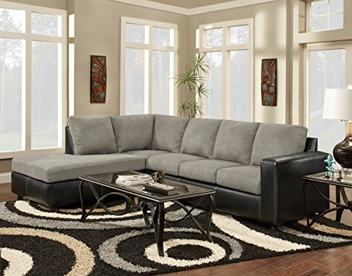 Chelsea Home Furniture Harford 2-Piece Sectional, Sensations Grey