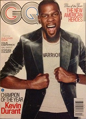 GQ Magazine (December, 2017) Men of The Year Issue Kevin Durant Cover