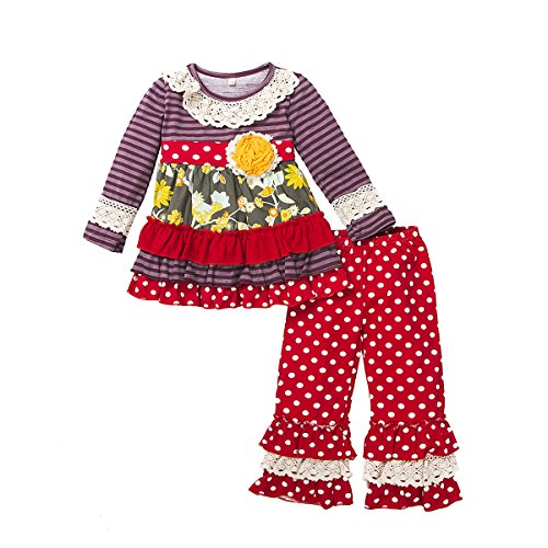 belababy 5T Girls Boutique Outfit Tutu Dress and -