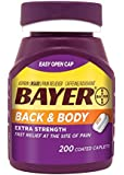 Bayer Extra Strength Bayer Back and Body Pain Caplets 500mg, 200 Count